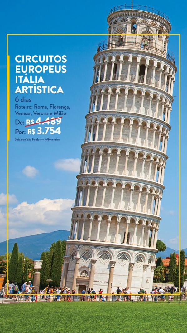 Circuitos Europeus Itália Artística