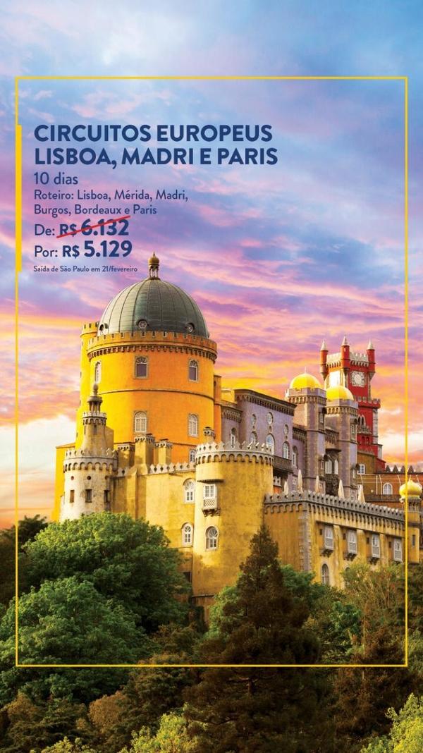 Circuitos Europeus Lisboa, Madri e Paris