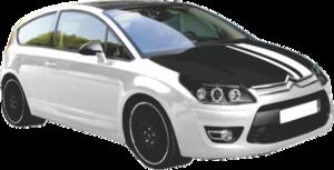 Adesivo preto fosco de teto ou capô de carro