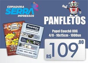 Panfleto 10x15 Frente - 1000 Unidades